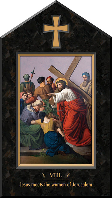 St. Peter's Indoor Station of the Cross Plaques (Set of 14)