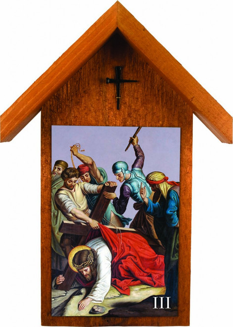 St. Peter's Stations of the Cross Handcrafted Simple Outdoor Shrine (Set of 14)