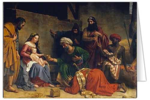 Adoration of the Magi by Alexandre Francois Caminade (25 Cards)
