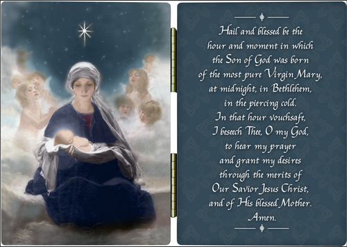 Star of Bethlehem Diptych with St. Andrew Novena Prayer