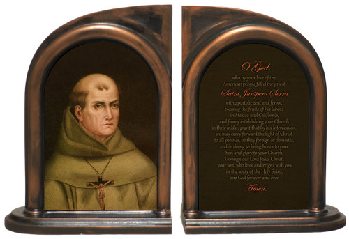 St. Junipero Serra Bookends