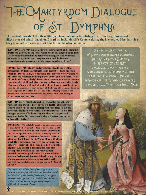 The Martyrdom Dialogue of Dymphna Explained Poster