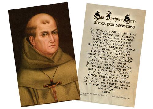 Junipero Serra Spanish Holy Cards