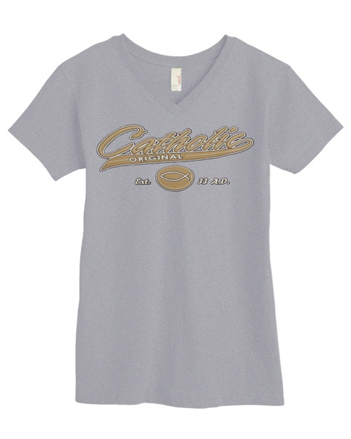 Catholic Original Baseball Style Closeout Women's V-neck