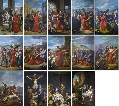 Bertucci Indoor Outdoor Stations of the Cross Aluminum Prints (Set of 14)