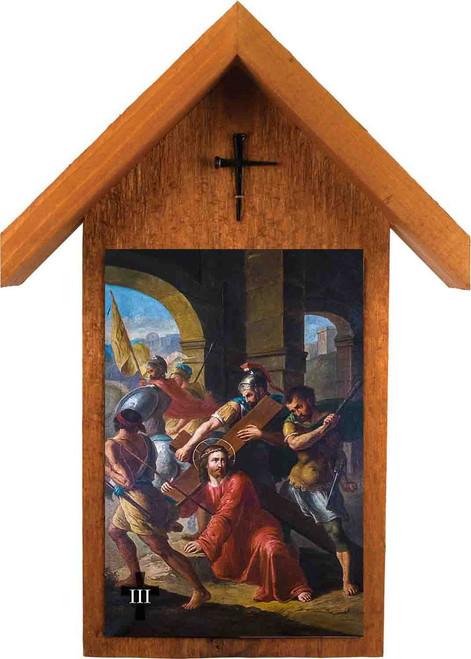 Bertucci Stations of the Cross Handcrafted Simple Outdoor Shrine (Set of 14)