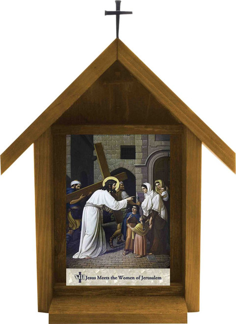 Emmerich Stations of the Cross Handcrafted Deluxe Outdoor Shrines (Set of 14)