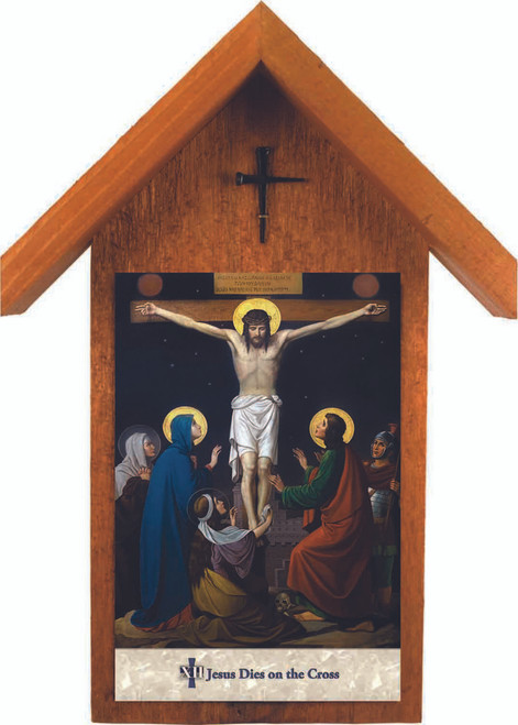 Emmerich Stations of the Cross Handcrafted Simple Outdoor Shrines (Set of 14)