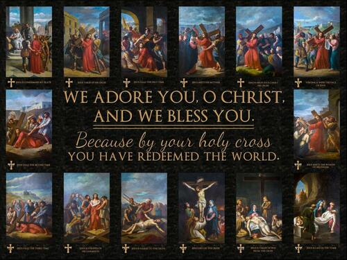 Bertucci Stations of the Cross Poster