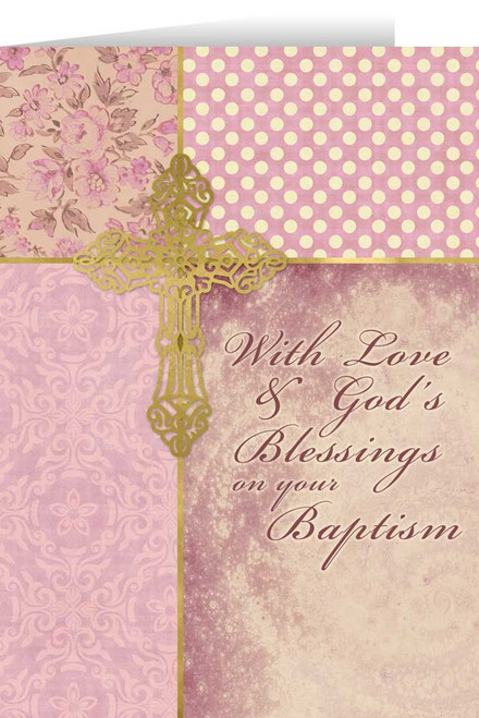 On Your Baptism Soft Rose Greeting Card