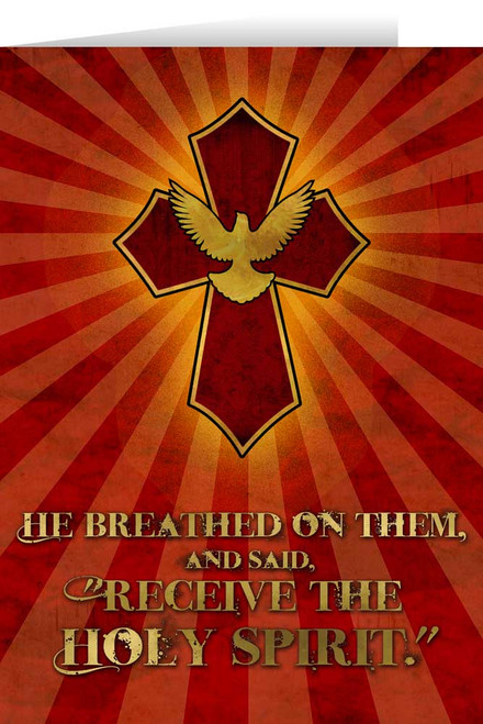 Receive the Holy Spirit Confirmation Greeting Card