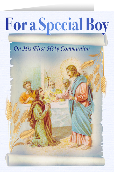 Jesus and the Apostles Boy's First Communion Greeting Card
