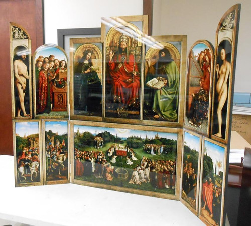 Altarpiece of Ghent Church-Sized Triptych Reproduction