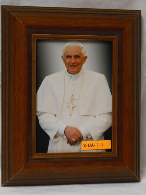 Emeritus Pope Benedict XVI 5x7 Wood Framed Print