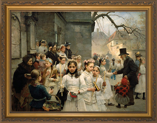 After the First Holy Communion - Standard Gold Framed Art
