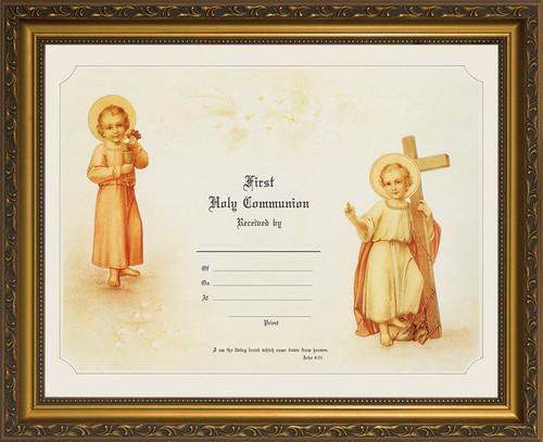 First Communion - Gold Framed Certificate