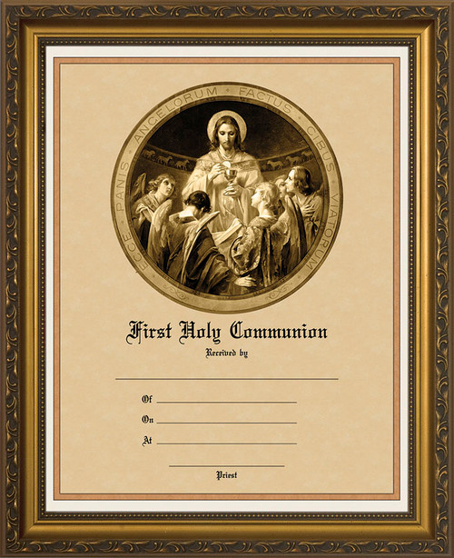 Christ, Bread of Angels - Gold Framed Certificate