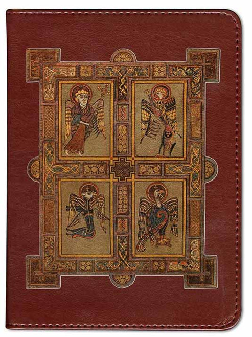 Personalized Catholic Bible with Book of Kells Cover - Burgundy RSVCE
