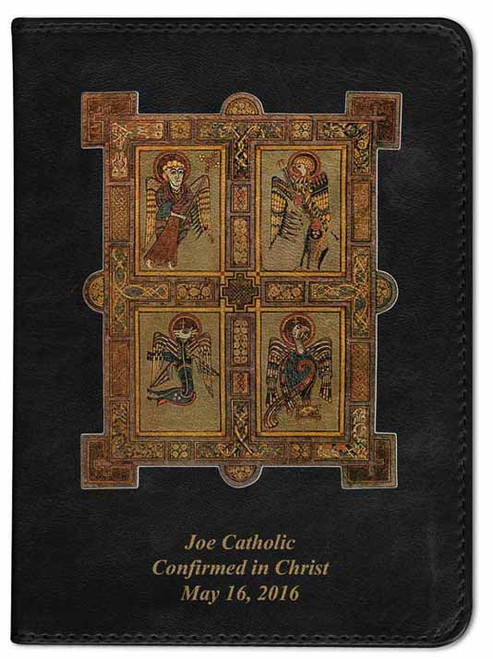 Personalized Catholic Bible with Book of Kells Cover - Black RSVCE