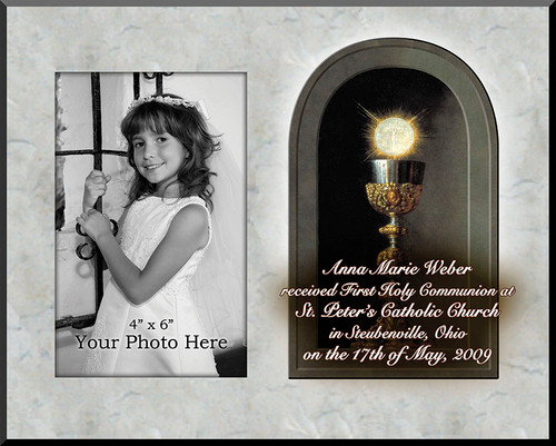 Eucharist Detail Personalized Photo Plaque