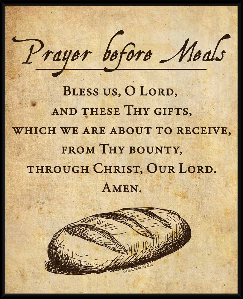 Prayer Before Meals Wall Plaque