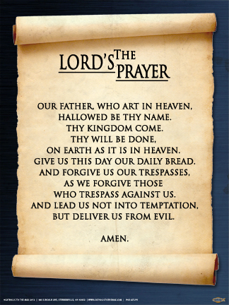 03e555ef4c843 The Lord's Prayer Poster - Catholic to the Max - Online Catholic Store