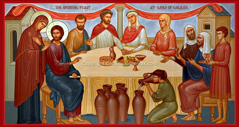 Wedding Feast At Cana.The Wedding Feast Of Cana Icon Wall Plaque