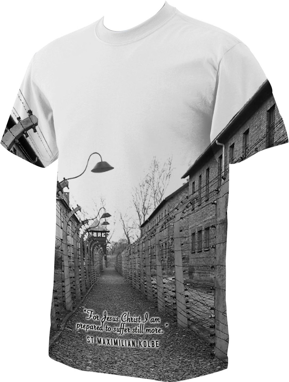 c2b756ae St. Maximilian Kolbe Auschwitz T-Shirt - Catholic to the Max ...