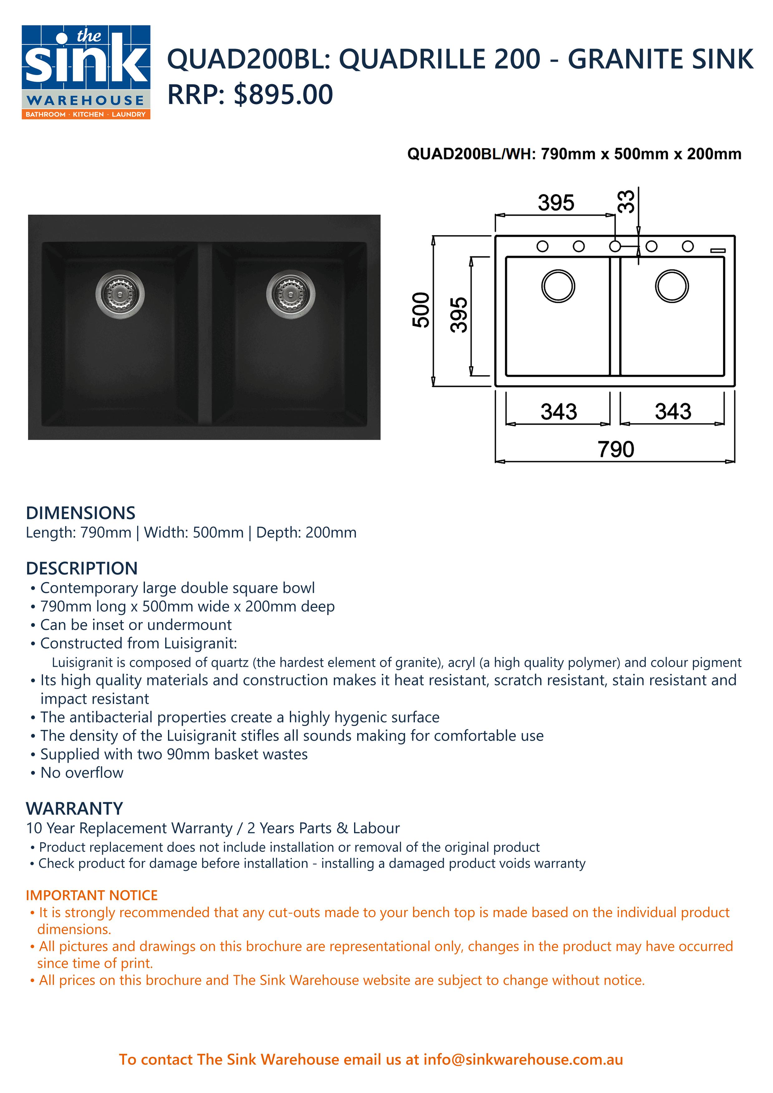 Quadrille 200 Black