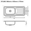 Atlantic 860 - Inset Sink