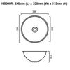 HB300R - Round Stainless Steel Hand Basin