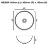 HB365R - Round Stainless Steel Hand Basin