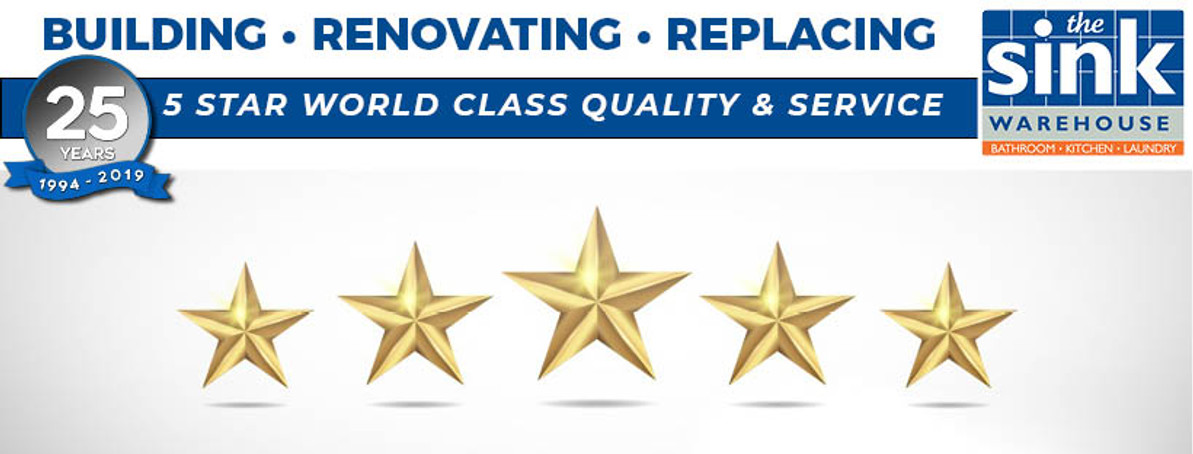 The Sink Warehouse delivers 5 Star World Class Quality & Service