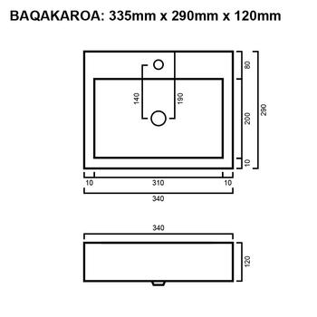 Akaroa - White Wall Hung Basin