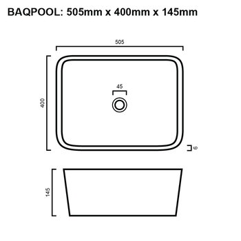 Pool - White Above Counter Basin