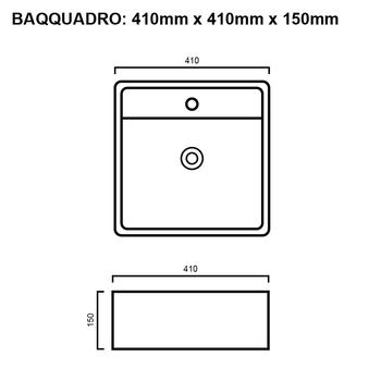 Quadro - White Above Counter Basin