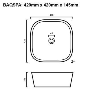 Spa - White Above Counter Basin