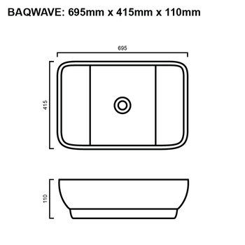 Wave - White Above Counter Basin