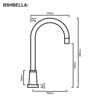 Bella/Boston - Chrome Bathroom Hob Spout