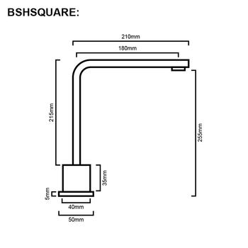 Square - Chrome Swivel Hob Spout