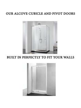 Alcove Shower Pivot Door 900mm