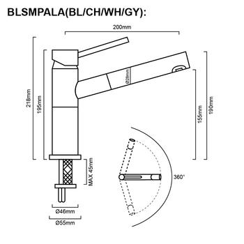 Blanco Alta - White Pullout Sink Mixer