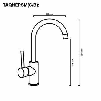 Neptune - Brushed Nickel Gooseneck Sink Mixer