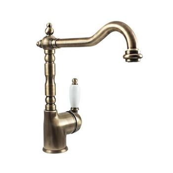 Antiqua - Brass Gooseneck Sink Mixer