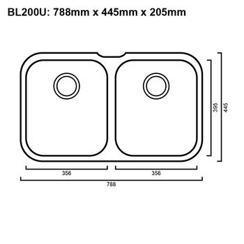 Blanco 200U Niagara U2 - Undermount Sink