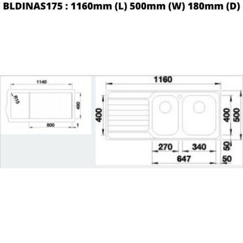 Blanco Dinas 175 - Inset Sink