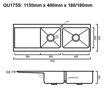 Quadro 175 - Slimline Inset Sink