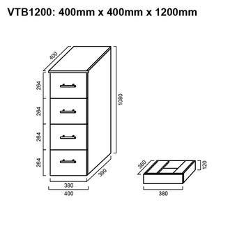 Tall Boy - Bathroom Cabinet 1200mm