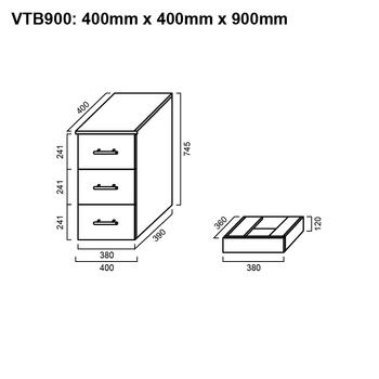 Tall Boy - Bathroom Cabinet 900mm