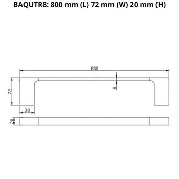Que - Chrome Single Towel Rail 800mm